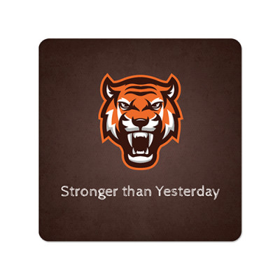 Fridge Magnet Square - Tiger